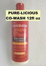 Creme Of Nature Argan Oil Pure Licious Co Wash 12 Oz