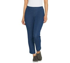 Isaac-Mizrahi-Womens-Tall-24-7-Denim-Ankle-Jeans-Pant-Medium-Indigo-16T-Size-QVC