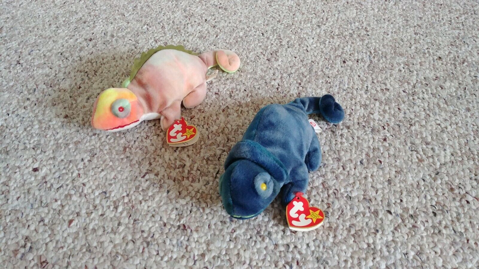 Ty Beanie Babies RAINBOW and IGGY ✔Incorrect Fabric ✔Rare ✔Retired ✔Errors ✔MWMT