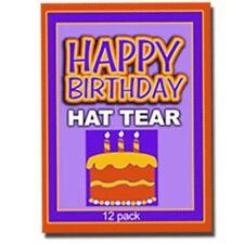 HAPPY BIRTHDAY HAT PAPER TEAR Magic Trick Kid Shows Restore 12 Set Comedy Tissue