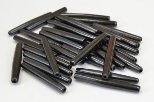 "50 PCS BLACK BUFFALO BONE HAIR PIPE TUBE CHOKER BEADS PENDANTS 2/"" #T-2316"