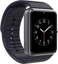 GT Bluetooth Smart Watch HD Screen Support SIM Card SmartWatch Black Body