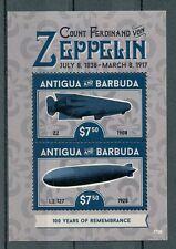 Antigua & Barbuda 2017 MNH Count Von Zeppelin 2v S/S Zeppelins Airships Stamps