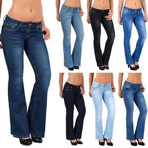 Dettagli su Da Donna Bootcut Jeans donna Jeans Bootcut Pantaloni Pantaloni colpo hüftjeans Top modelli g40 mostra il titolo originale