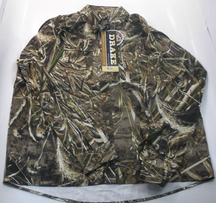 Drake Waterfowl DW2610-015-3 Ls Vented Shirt Max5 Camo Large 17701