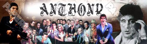 "Al Pacino Poster Banner 30/"" x 8.5/"" Personalized Custom Name Printing"
