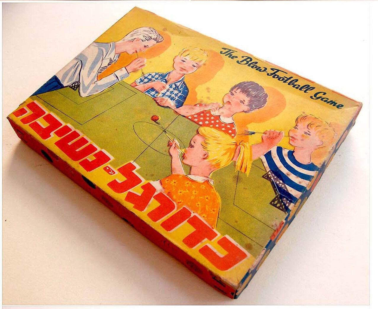 1960 Sports SOCCER - FOOTBALL Board GAME Complete w/BOX Hebrew JEWISH Israel