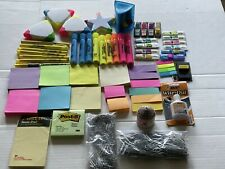 Post It Multi Color Pull Tabs Dispenser Note Pads Highlighters Office Lot Of 66