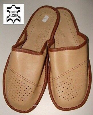 Clothing, Shoes & Accessories Men's Shoes Herrenhausschuhe Echtleder Pantoffel Latschen Pk045rh Beige Gr.41 To Win Warm Praise From Customers