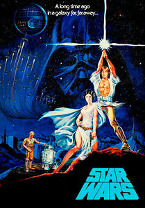 Star Wars 1977 IV Movie Poster A1 High Quality Canvas Art Print