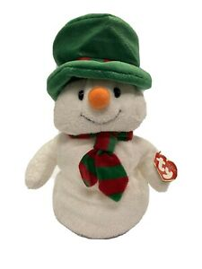Brand New Christmas TY Mr. Snow Pluffie Beanie Baby