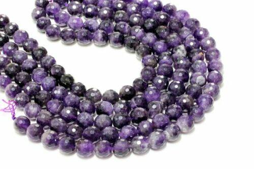 Joyería de Piedras Preciosas Cuentas de Amatista Facetada púrpura redondo Natural suelto Gem filamento de 16