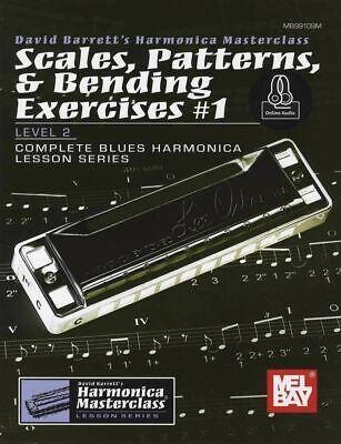 Harmonica Scales Patterns Bending Exercises Vol 1 Book/audio Same Day Dispatch Zorgvuldig Geselecteerde Materialen