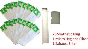 DVC-Replacement-Sebo-Windsor-Service-Box-Cloth-20-Vacuum-Bags-and-2-Filter-Kit