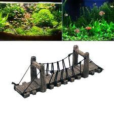 Resin Aquariums Castle Drawbridge Bridge Aquarium Fish Tank Tower Ornament TF122