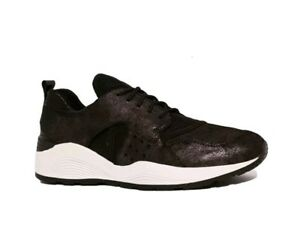 Details about GEOX RESPIRA OMAYA PLUS D642RA RRP£120 BLACK LEATHER COMB RUNNING TRAINERS SHOES
