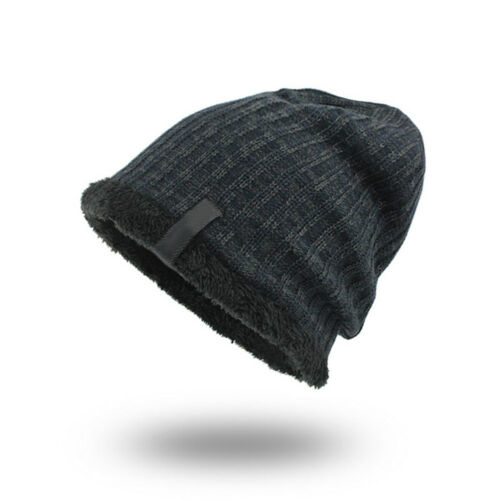 BE27 Knitted Velvet Thickness Warm Winter Hat Man Hat Skullies Caps Fashion