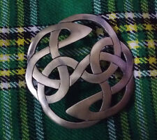 Scottish Fly Plaid Brooch Lindisfarne Antique Finish/Ladies Women Brooch Metal