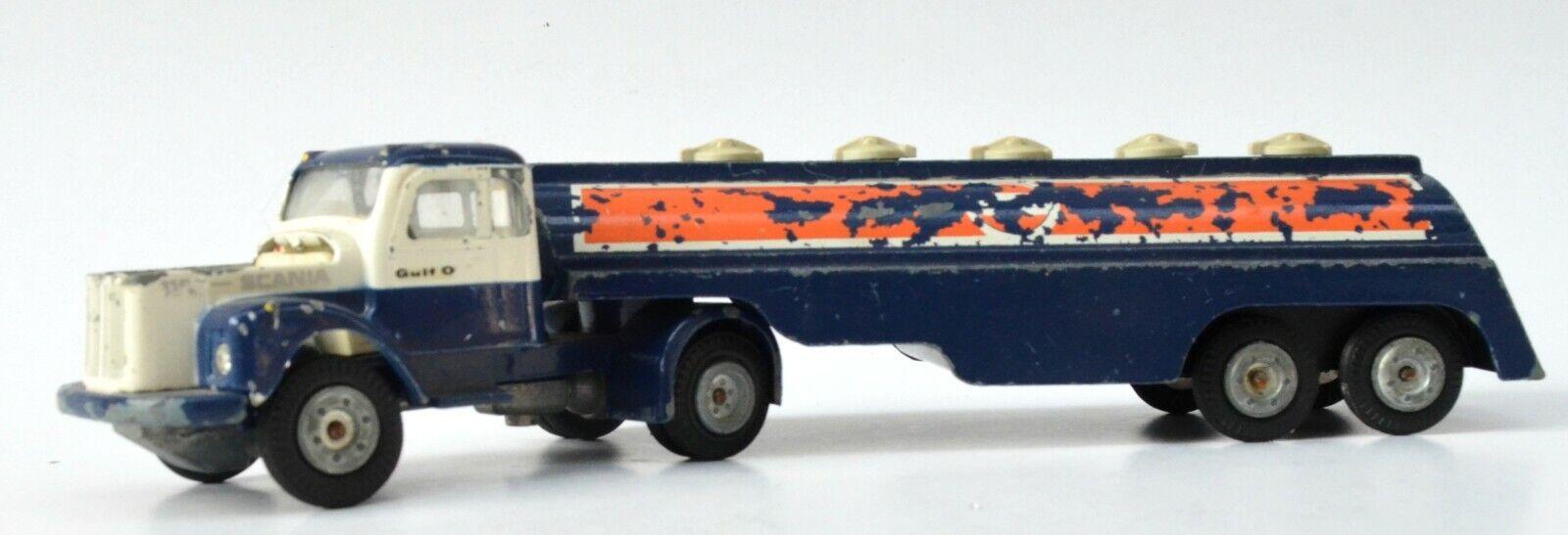 Scania Vabis 110 tank truck Tekno - Sweeden No. 447 with  Gulf  logo.