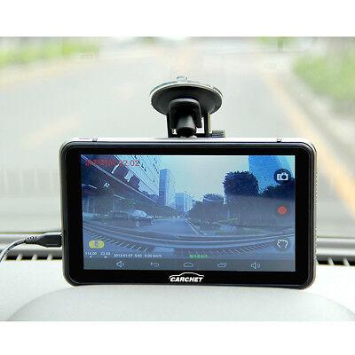 """CARCHET 7"""" Navigatore Satellitare Portatile GPS HD 1080P DVR Android 4.4 EU Mape"""
