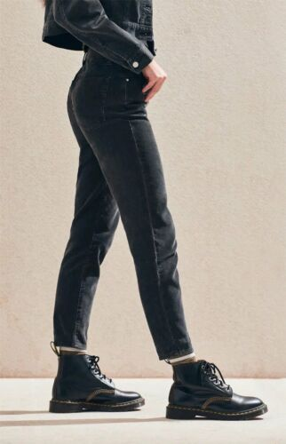 5 of 6 NWT - PACSUN Women s VINTAGE ICON MOM CORDUROY Washed Black JEANS  PANTS- 32 4ae98695ceb0