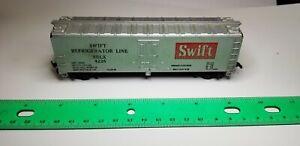 TYCO-HO-Scale-SWIFT-Refrigerator-Line-SRLX-4226-Train-Freight-Car-Silver-6-034