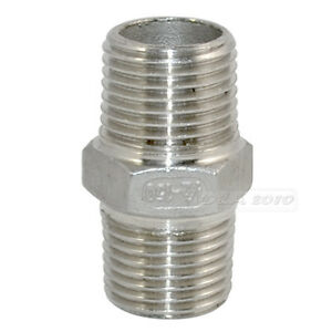 1-2-Male-x-1-2-Male-Hex-Nipple-Stainless-Steel-304-Threaded-Pipe-Fitting-BSP