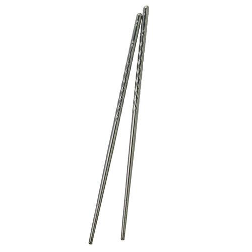 Pair Twist Style Stainless Steel Chopsticks Easy Clean Non-Slip New