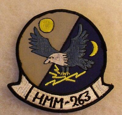 """1960/70'S USMC SQDN """"HMM-263"""" EMB ON TWILL COTTON CLOTH BACK CE 4 1/2"""" T"""