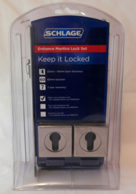 NEW Schlage Entrance Mortice Lock Roller Latch Deadlock DBOLT C/T SQ ESC SSS