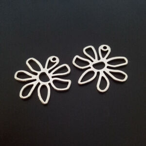 10pcs-Charms-Hollow-Flower-Tibetan-Silver-Beads-Pendant-DIY-25-25mm