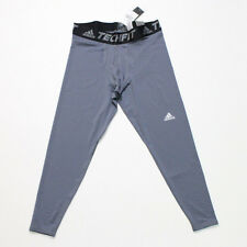 NWT Men's Adidas Tech Fit Climalite Compression Base Tight Gray Size XL