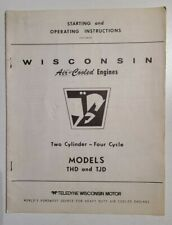 Wisconsin Air Cooled Engines Startingoperating Instructions Models Thd Tjd