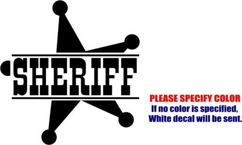 "Vinyl Decal Sticker Sheriff Badge Car Truck Bumper Window Laptop JDM Fun 9/"""
