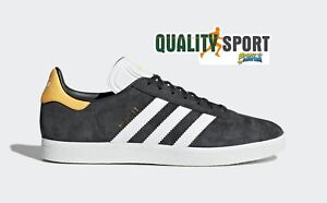 new style e6b16 5fdb4 Image is loading Adidas-Gazelle-Grey-Orange-Shoes-Shoes-Man-Sports-