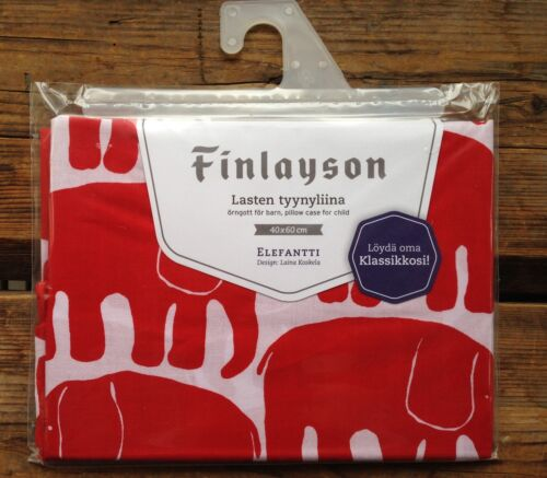 lovely gift ! Finlayson Elephant kids bed pillow from Finland 40x60cm red