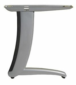 office furniture legs. Image Is Loading 2pc-set-C-style-L-shape-Gray-metal- Office Furniture Legs E
