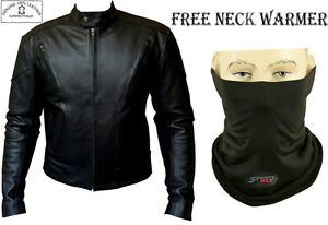 TERMINATOR-STYLE-MENS-BLACK-CE-ARMOUR-MOTORBIKE-MOTORCYCLE-LEATHER-JACKET