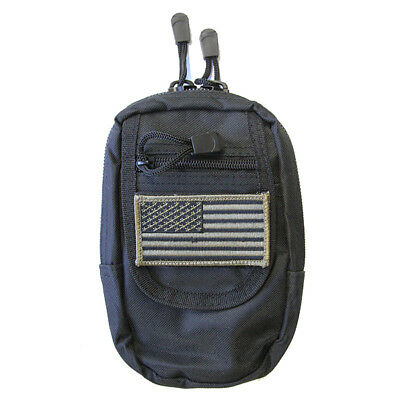 Black Tactical Backpack Gun Holster included Flag Patch HEAVY DUTY  Concealment