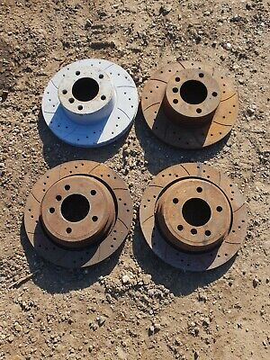 BMW E39 525i Drilled Grooved Brake Discs Front Rear