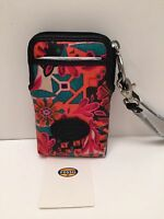 Fossil Wristlet Keyper Carryall Multicolor Cell Phone Holder