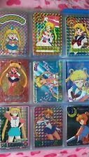 RARE AUTH 90s Japan Bandai Sailor Moon HTF Trading Card 42 Prism Sticker Cards