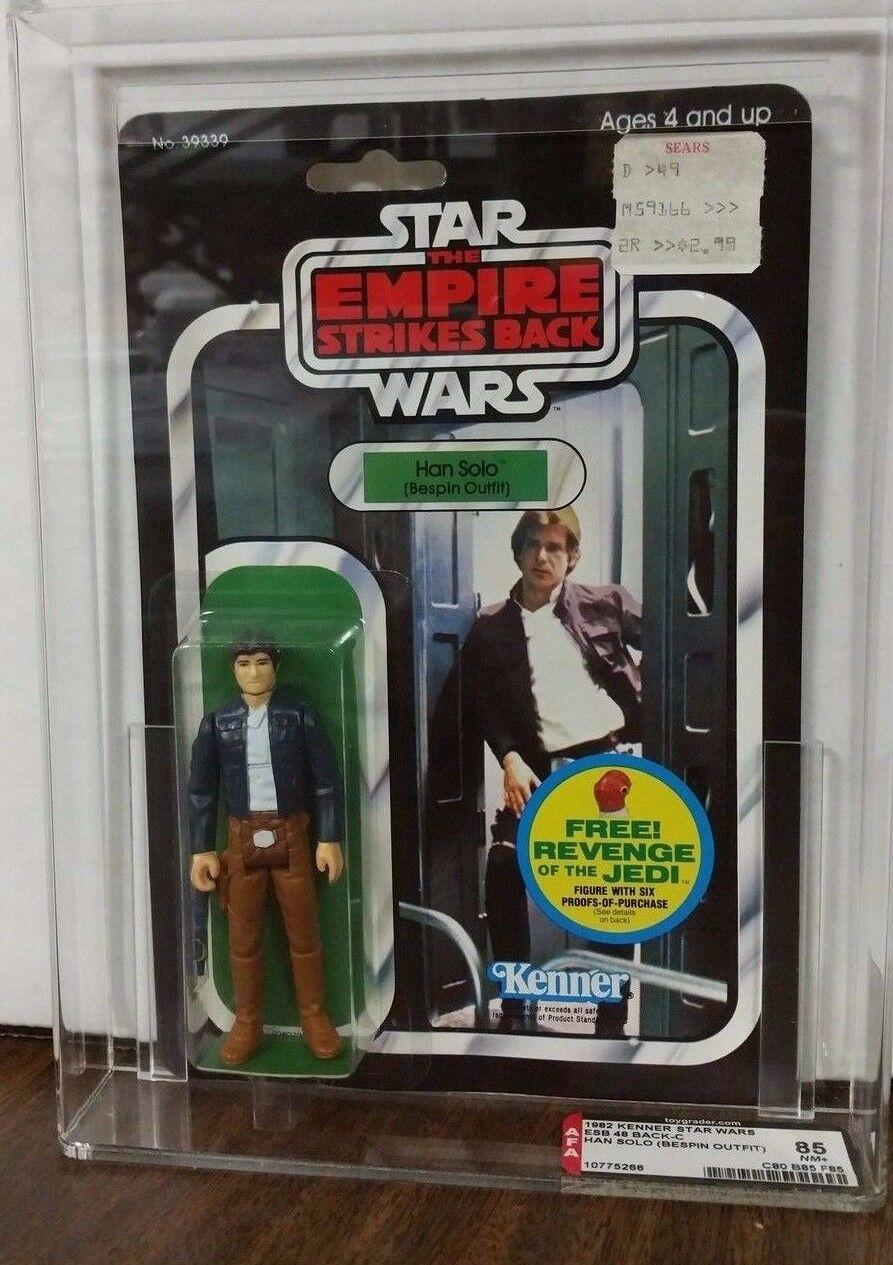 Mercancía de alta calidad y servicio conveniente y honesto. Han Solo Solo Solo Bespin Outfit Star Wars Esb Kenner 48 posterior Afa 85 (808585)  orden ahora con gran descuento y entrega gratuita