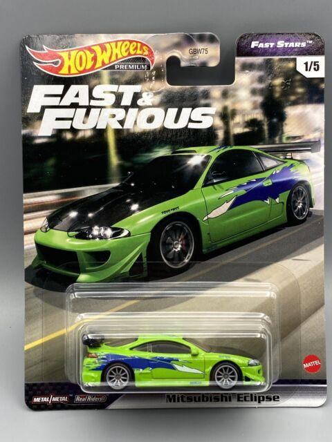HOT WHEELS 95 Mitsubishi Eclipse Green Car Fast & Furious Fast Stars GRL73 2021
