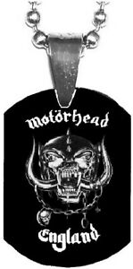 MOTORHEAD England Mini Dog Tag Necklace Metal Balls Chain Rock Merchandise