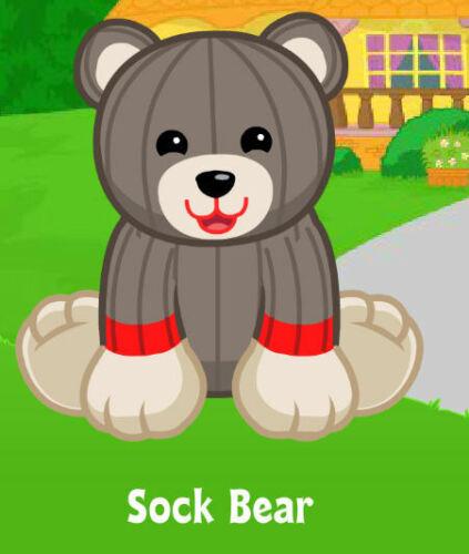 !Credible Proven Seller! Webkinz Sock Bear unused code only