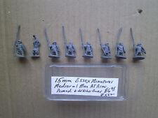 15mm Essex Miniatures Medieval Men at Arms  Primed on washer Bases