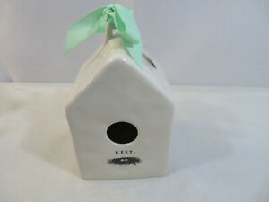 Rae-Dunn-Icon-NEST-Square-Birdhouse-NWT-Dimpled-Ceramic-2019-Release