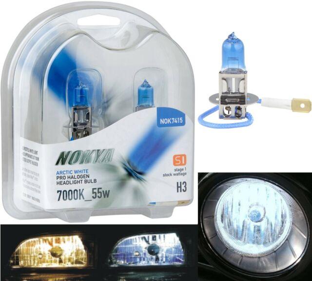 Nokya 7000K White H3 Nok7415 55W Fog Light Two Bulbs Replacement Halogen Lamp