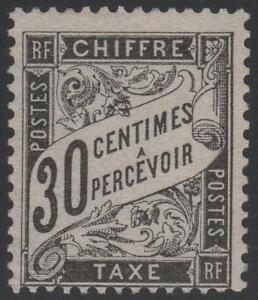 FRANCE-STAMP-TIMBRE-TAXE-N-18-034-TYPE-DUVAL-30-c-NOIR-034-NEUF-xx-TB-A-VOIR